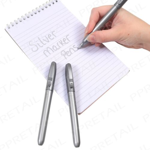 3x Metallic Silver Marker Pen~PREMIUM QUALITY~Scrapbook Crafts School Cardmaking