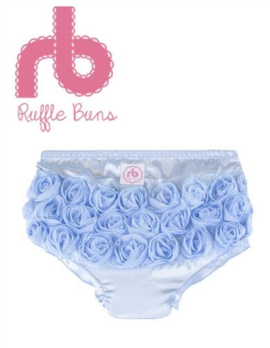RUFFLE BUNS Diaper Cover Satin with Satin Roses