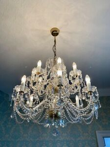 A beautiful crystal chandelier from the 70s Catawiki