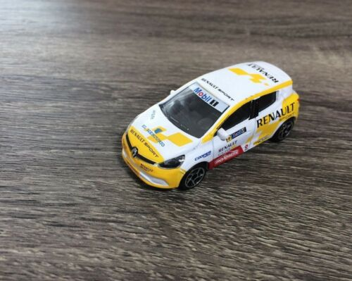 Majorette Renault Clio Sports Rally Mobil Car Model White Racing Diecast