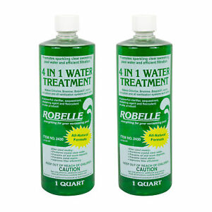 Details about Robelle 4-in-1 Flocculant Clarifier Sequestrant Chelating  Swimming Pool - 2 Qts.
