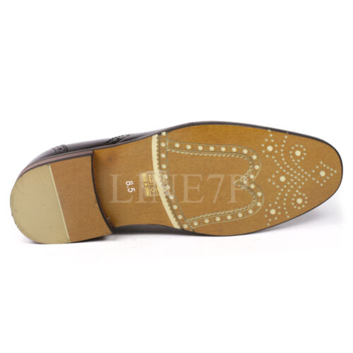 Men/'s Perforated Lace Up Fashion Oxford Dress Shoes