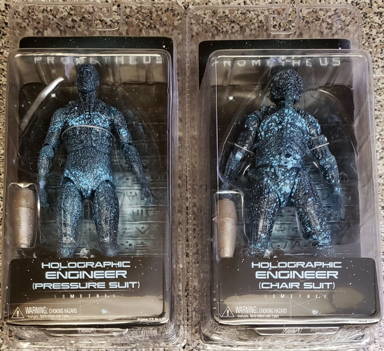 NECA PROMETHEUSHOLOGRAPHIC ENGINEER PRESSURE SUIT e CHAIR SUIT cifraS,nuovo