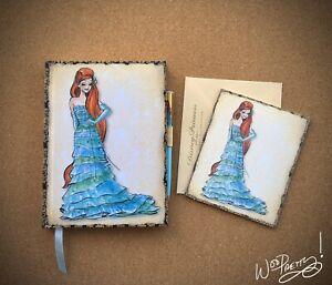 2011-Disney-Designer-Princess-ARIEL-Journal-amp-Note-Card-Steve-Thompson-Art