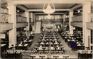 Details About Mills Restaurants Cleveland Ohio Postcard