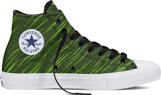 b63ded4ae69c75 Converse Chuck Taylor All Star II HI Black Volt Green Hi Top Sneaker 151086C