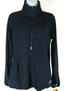 NEW-BALANCE-NBDRY-WOMEN-039-S-NAVY-1-4-ZIP-LONG-SLEEVE-SHIRT-WT73891-PGH