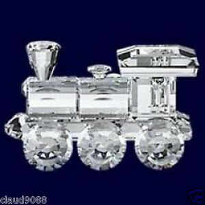 SWAROVSKI-SILVER-CRYSTAL-1988-LOCOMOTIVE-WHEN-WE-WERE-YOUNG-015145-MINT-IN-BOX