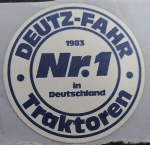 Promotional Stickers Deutz Fahr 1983 Tractors 4 CM Small Schlepper Cologne Khd