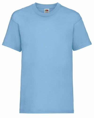 Fruit Of The Loom Childrens Valueweight Plain Crew Neck T-Shirt