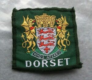 Vintage-Dorset-cloth-scouts-badge-2-x-2-inches