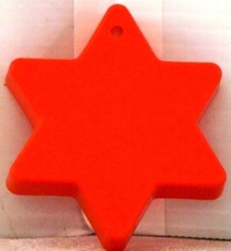 1978 Vintage 6 Point STAR of DAVID Plastic IMPRESSION Cookie Cutter RED