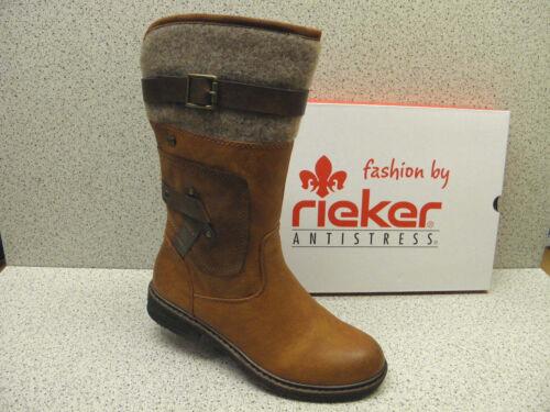 Preis Rieker Superbequem r493 Top ® Warm Stiefel Braun BPpEq7px
