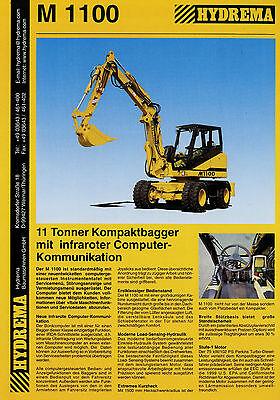 Business & Industrie Kraftvoll Prospekt Hydrema M1100 Kompaktbagger 4/00 2000 Brochure Baumaschine Bagger Literatur