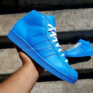 ADIDAS PRO MODEL HIGH TOP BLUE CUSTOM