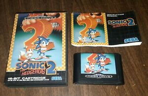 SONIC THE HEDGEHOG 2 Sega Genesis Video Game w/ Box, Manual, Cartridge, TESTED