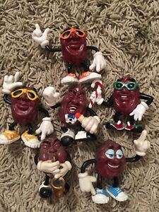 Lot Of 6 California Raisins Figurines
