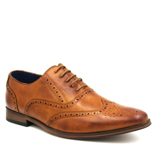 BRAND NEW MEN/'S OXFORD BROGUES LACE UP PARTY WEDDING DRESS SMART SHOES SIZE 7-11