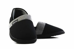 Mens-Slippers-Grosby-Hoodies-Black-Grey-Knitted-Slipper-House-Shoe-Size-S-M-L-XL