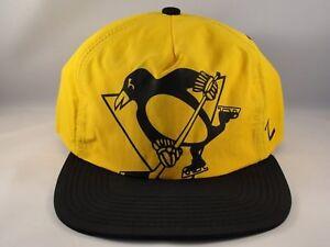 Image is loading Pittsburgh-Penguins-NHL-Adjustable-Zipback-Strap-Hat-Cap- 23e4831d6df1