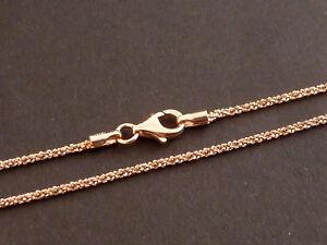 Armband-925-Sterling-Silber-rosevergoldet-rosegold-18-5-cm-x-1-4-Karabiner-NEU