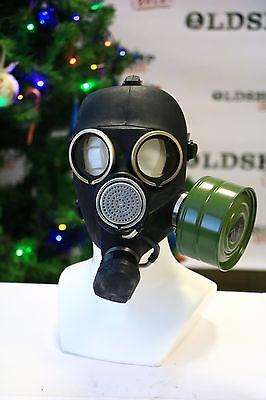 Russian USSR military Gas Mask GP-7 VINTAGE M SIZE BLACK + FILTRER good quality