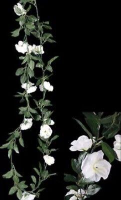 2 X WEDDING ROSE GARLAND WHITE ROSE 220cm LONG WEDDING SILK ARTIFICAL FLOWERS