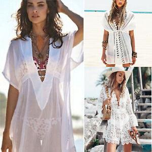 Womens Kaftan Dress Beach Wear Bikini Cover Up Ladies Summer Beachwear Swimwear