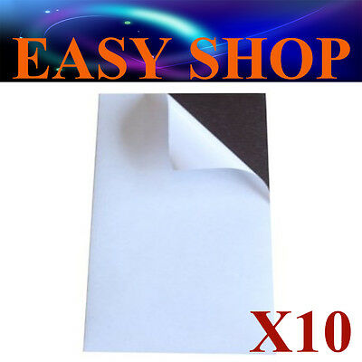10X A4 Flexible Magnet Sheets Sticky Self Adhesive 1.0mm DIY Hand Craft Fridge