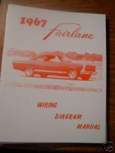 1967 Ford Fairlane Wiring Diagram Manual | eBay