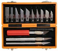 17 Piece Hobby Craft Utility Knife Set In Abs Plastic Storage Case, New, Free Sh on sale