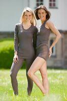 Engel Wolle Seide Damen Spitzen Unterwäsche Unterhemd Achselhemd Pants Leggins