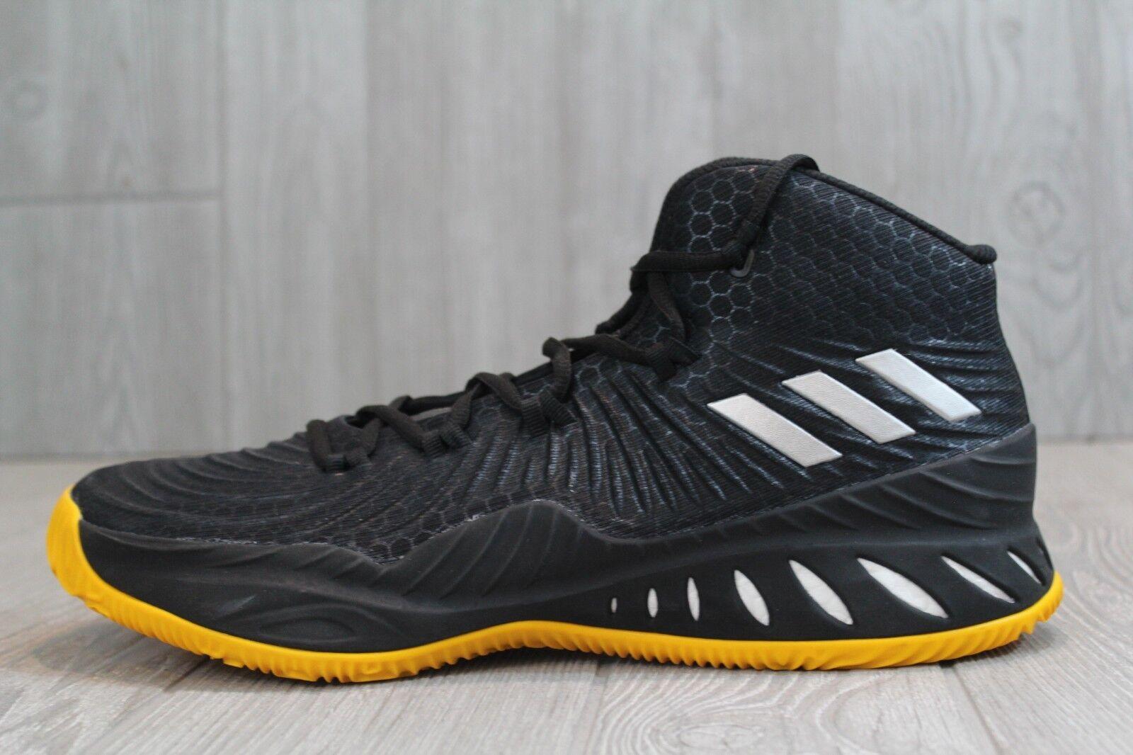 32 Adidas Crazy Explosive 2017 Basketball shoes Black Yellow Size 12.5, 13