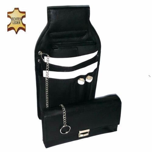 Server Set 3 pcs. Waiters Holster Stock Market Chain Purse Leather Bag Wallet