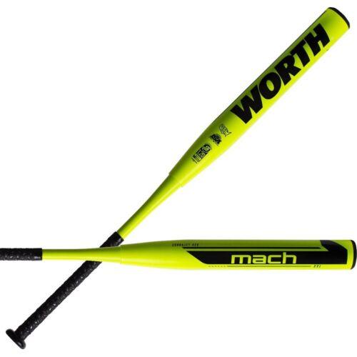 "Details about  /2021 Worth Mach 1 XXL 13.5/"" 34/""//27oz USSSA Slowpitch Softball Bat WM21MU"