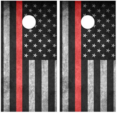 C191 American Flag Cornhole Board Wrap LAMINATED Wraps Decals Vinyl Sticker