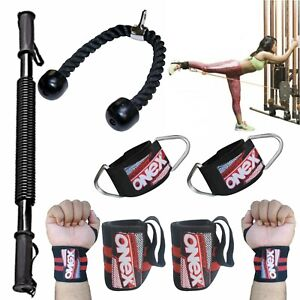 Weight Lifting Gym Ankle Strap Triceps Rope Barbell Pad Hook Strap Skipping Rope