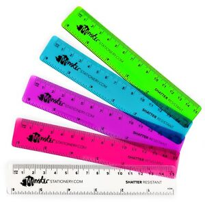 Monster-Stationery-Transparent-Rulers-6-Inch-15cm-5-Pack-Mixed-Colours