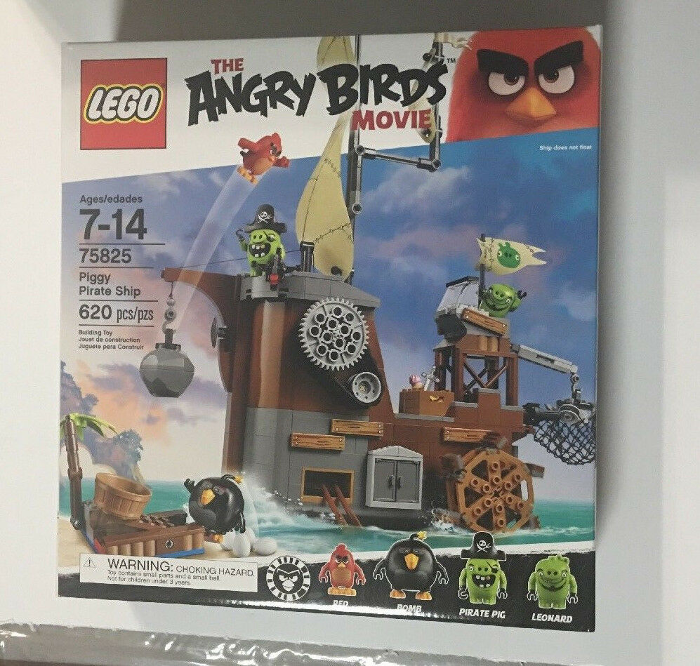 LEGO 75825 ANGRY BIRDS PIGGY PIRATE SHIP - NEW IN FACTORY SEALED BOX