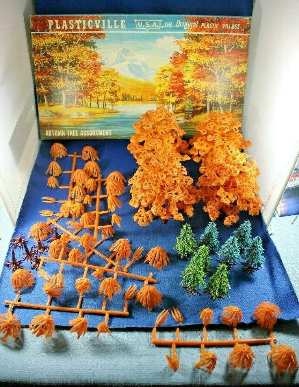 Plasticville-o s -  1975-298 Surtido de árbol de otoño-Completo-Caja Excelente