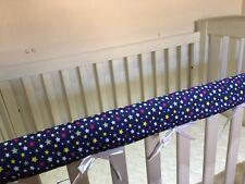 Reversible Baby Cot Crib Teething Rail Cover Protector ~ Stars