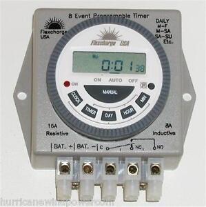 Flexcharge-PRGTMR12V-Real-Time-Programmable-Digital-Timer-12V