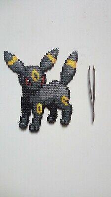 Noctali Dark Pokémon Of 2g Perler Beads Pixel Art Ebay