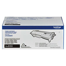 GENUINE OEM BROTHER TN850 BLACK TONER CARTRIDGE TN-850 HI YLD (8,000 YIELD)