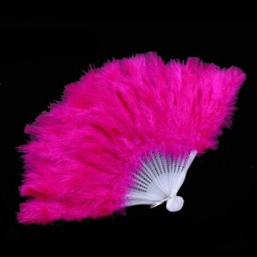 Burlesque Showgirl Danse Costume pliant Plume Éventail cadeau de mariage BB