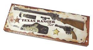 EDISON-GIOCATTOLI-Western-Texas-Ranger-Set-4-teilig-Gewehr-Pistole-Holster-Stern