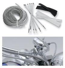 Chrome Brake Cable/Line/Hose covers/kit YAMAHA XV1900 MIDNIGHT STAR: BA-8200M