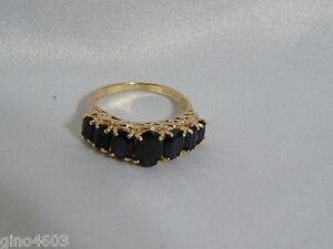 Vintage-Genuine-Natural-Sapphire-10K-stamped-YG-Ring-Yellow-Gold-Estate-Piece-6
