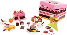 Zuckersüsse Süßigkeiten Kiste 39tlg.Torte Kaufladen Puppen Stube Holz Kuchen Eis