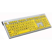 Logickeyboard Large Print Black On Yellow Keyboard